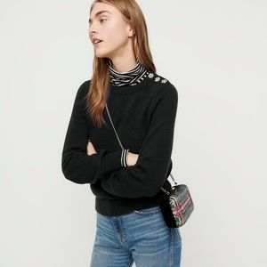 J. Crew Crewneck Sweater with Jeweled Buttons